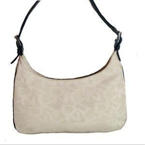Donna Karan Bags - Donna Karan Textile and Black Leather  Bag